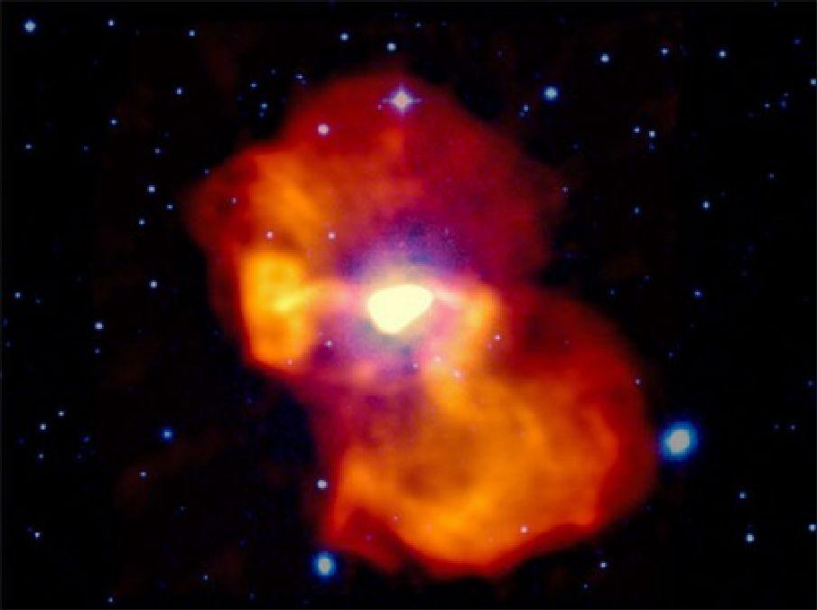 Un trou noir supermassif souffle une bulle géante de gaz chaud