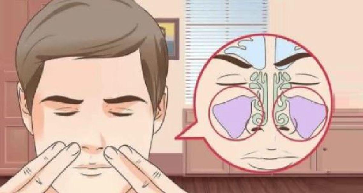 Une friction qui calme la douleur due aux sinus bouchés