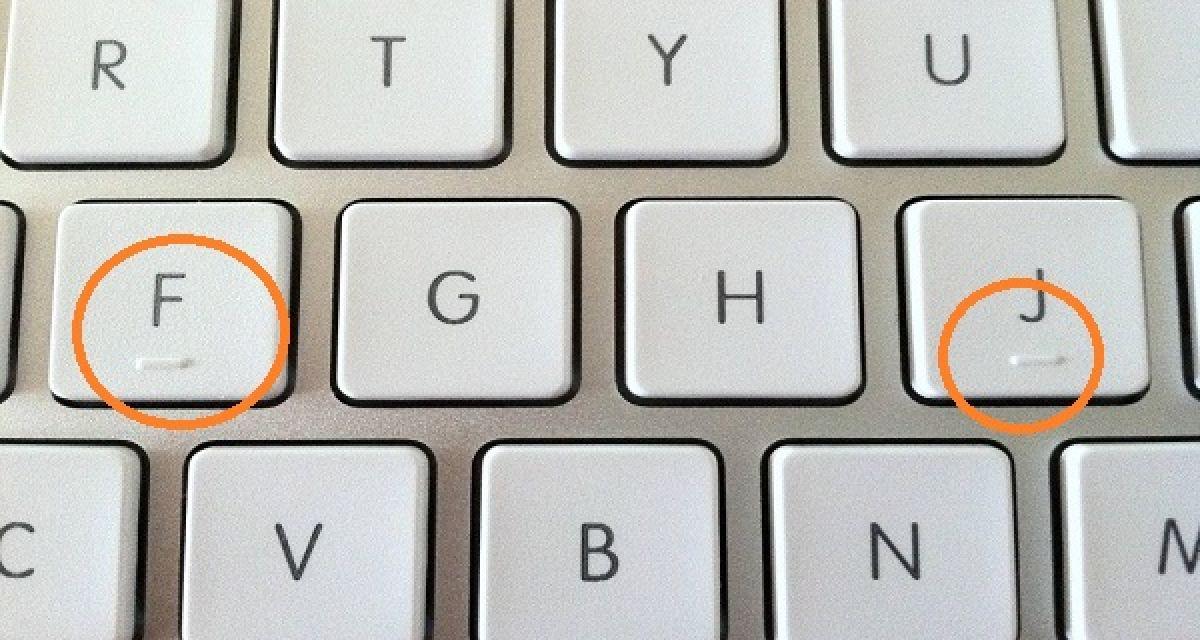 Savez-vous pourquoi il y a des bosses sur les touches F et J de votre clavier?