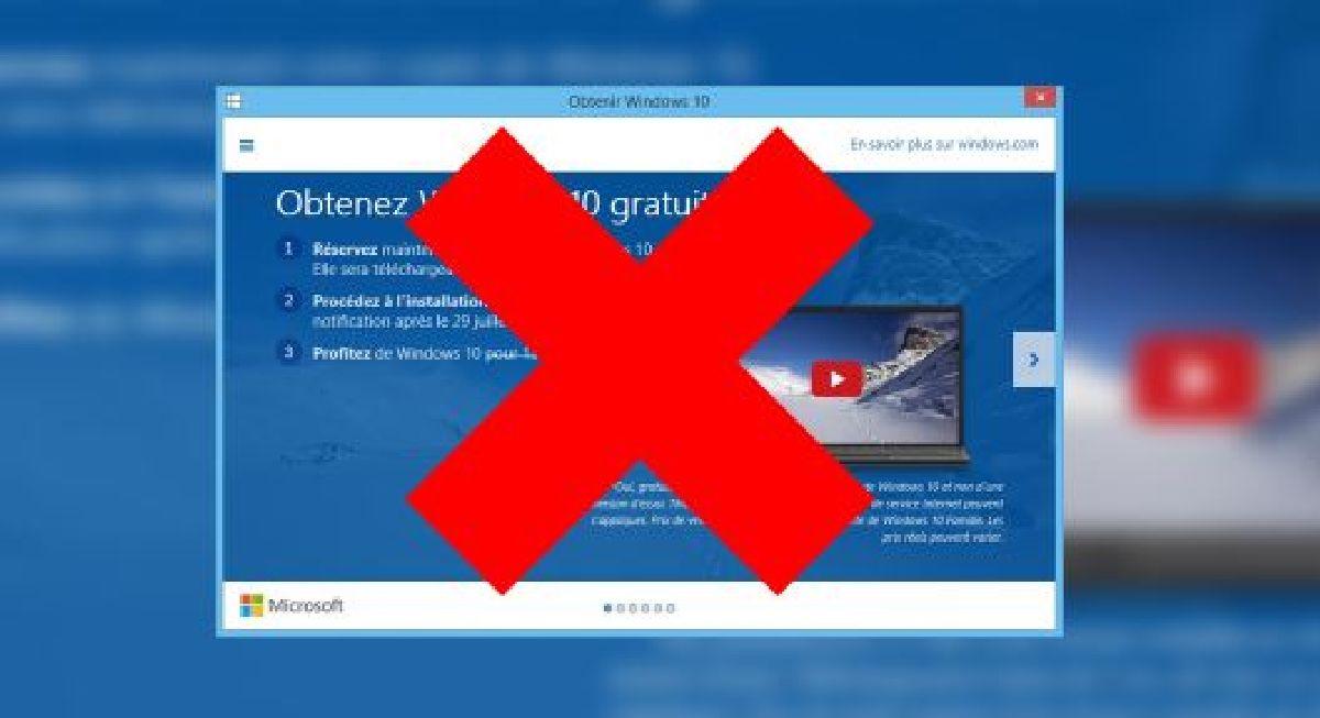 Comment désinstaller l'application « Obtenir Windows 10 » de Windows 7 et 8.1