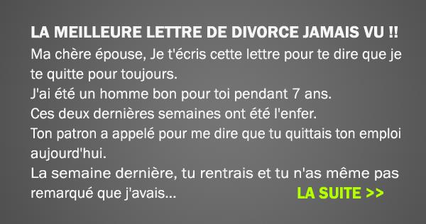 La meilleure lettre de divorce jamais vue