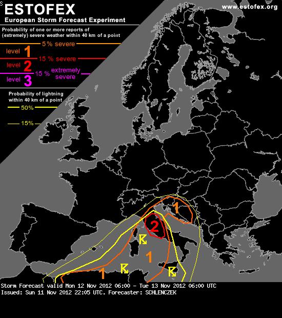 عـــاجل : الموقع الاوروبي للانذارات الجوية يضع على موقعه انذار من الدّرجة الاولى لتونس ويحذّرها من احتمالات عواصف رعدية وسيول جارفة