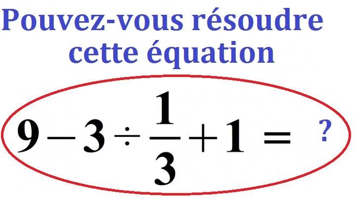 Pouvez-vous résoudre cette équation  qui enflamme les internautes japonais !