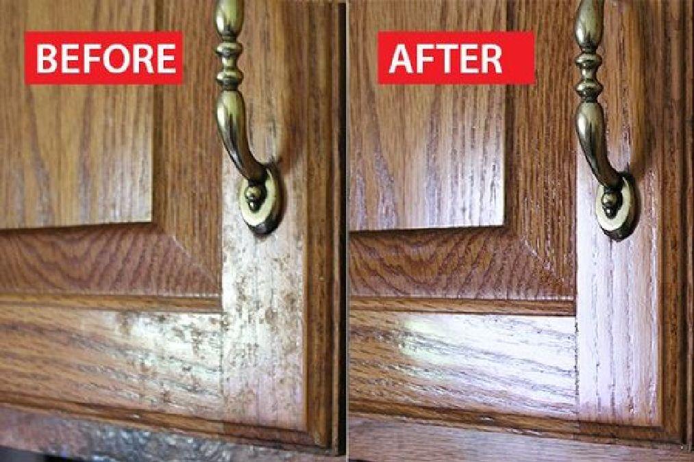 comment nettoyer la graisse des portes d armoire de la cuisine. Black Bedroom Furniture Sets. Home Design Ideas