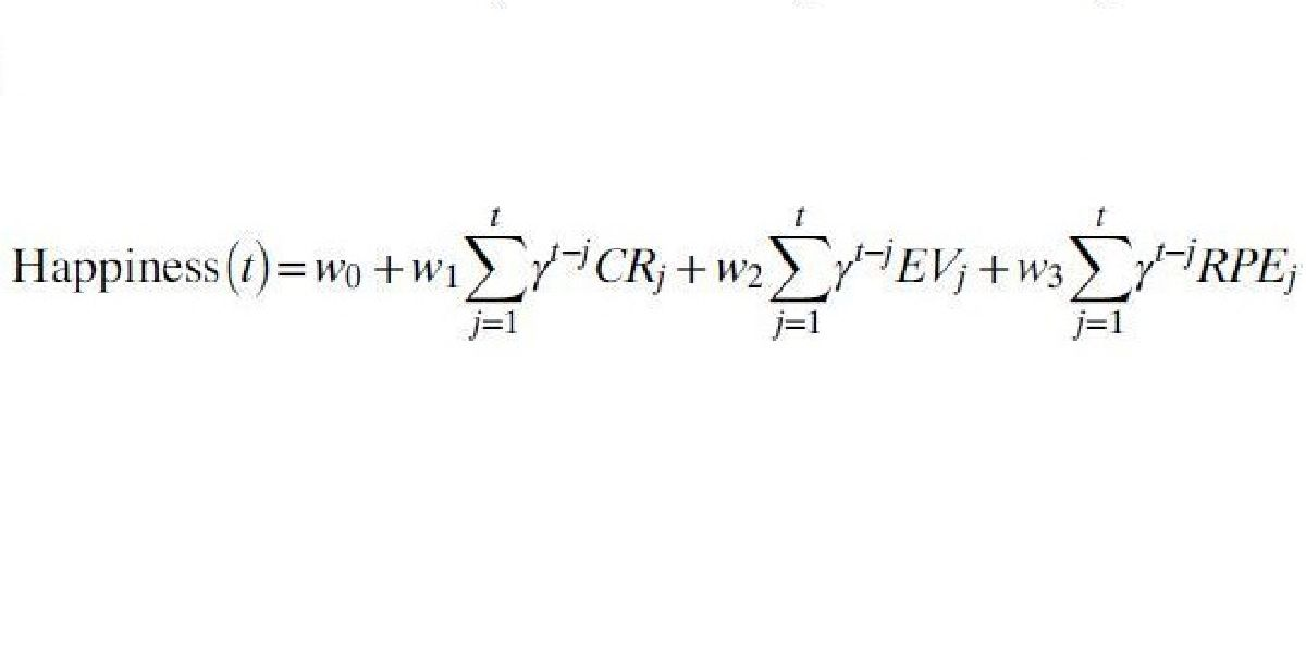 Would happiness be a simple mathematical equation?