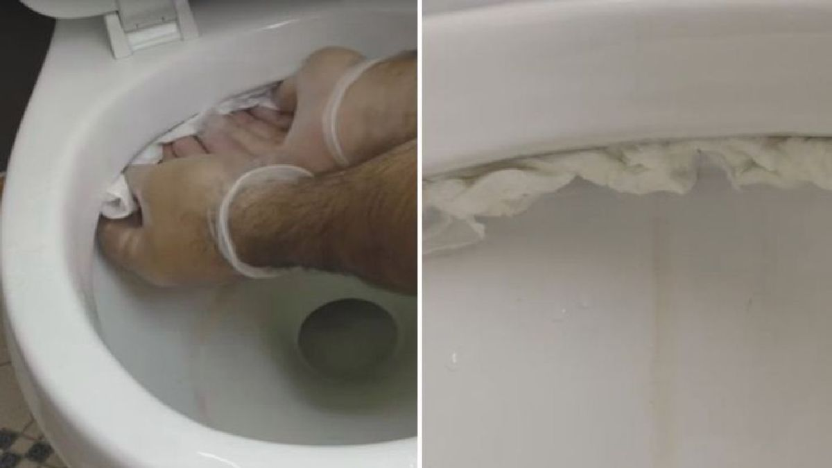 Trempez du papier toilettes dans du vinaigre et mettez-le dans vos toilettes : L'astuce est brillante !