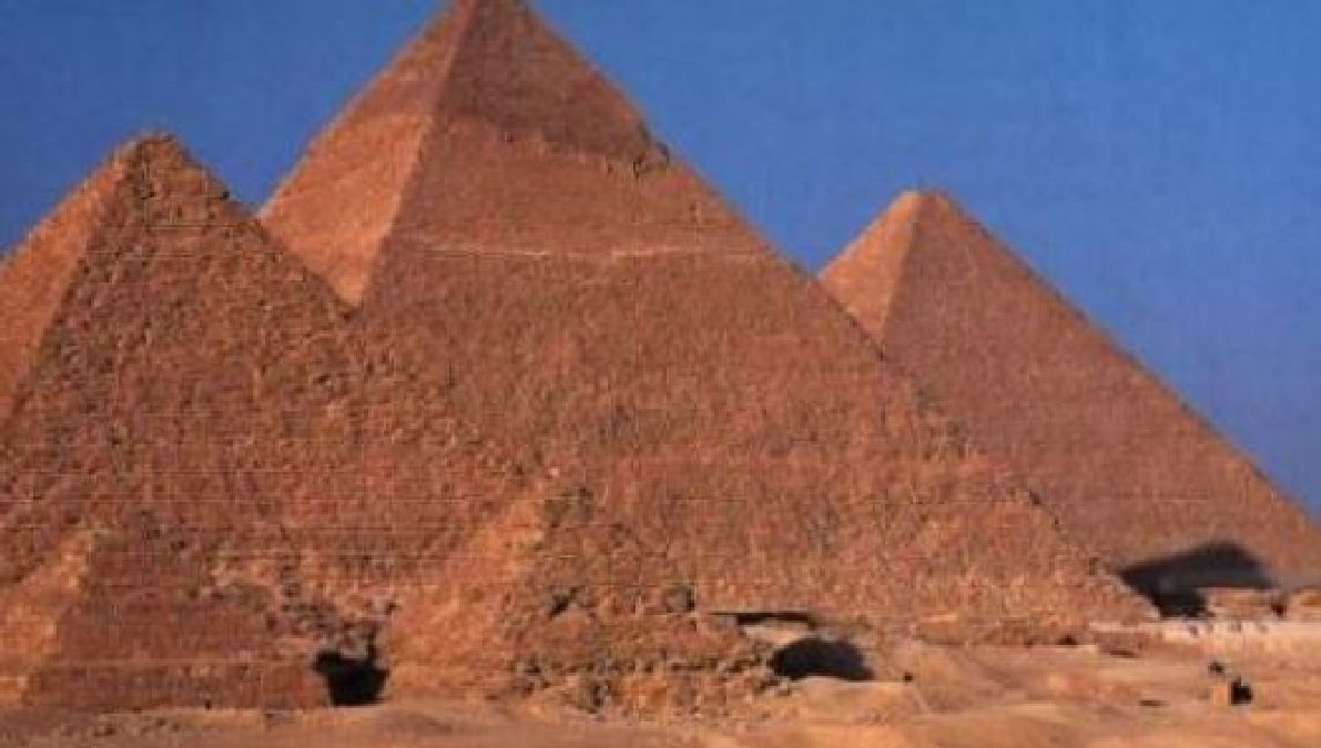 The way the pyramids are built!
