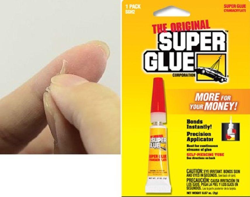 comment enlever la super glue des doigts?