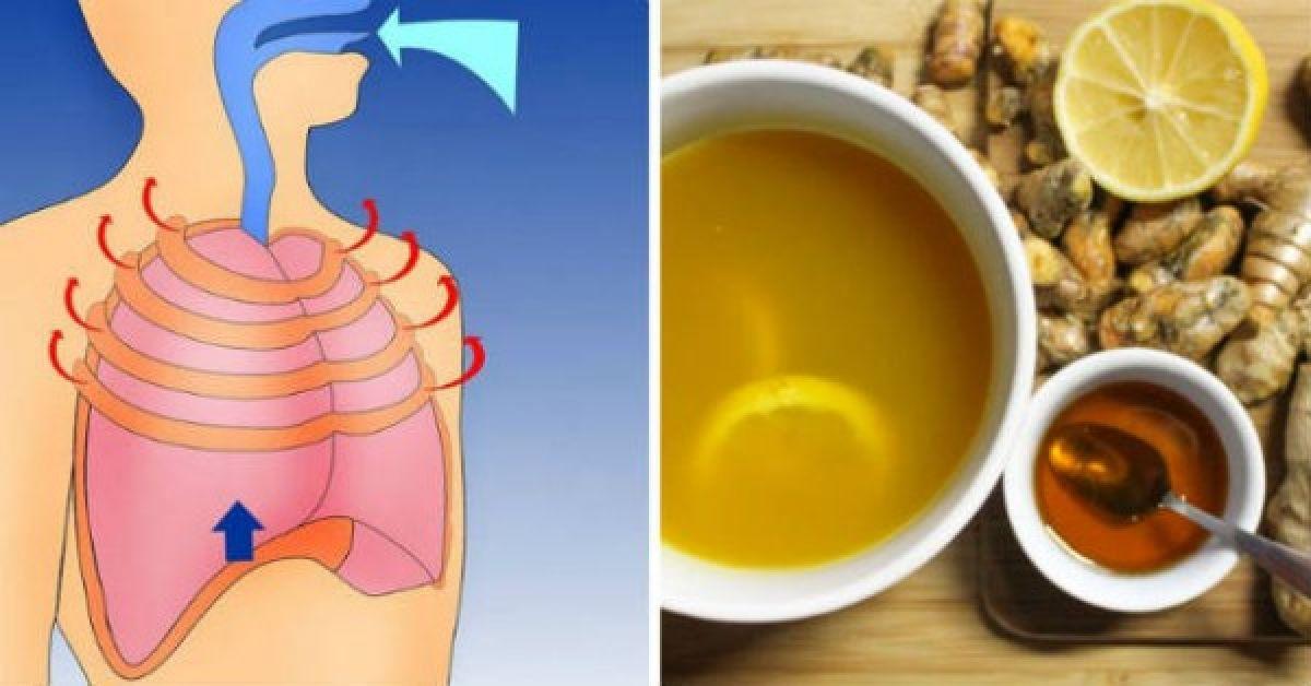 Guérir la toux et l'inflammation des poumons grâce à  cette recette naturelle